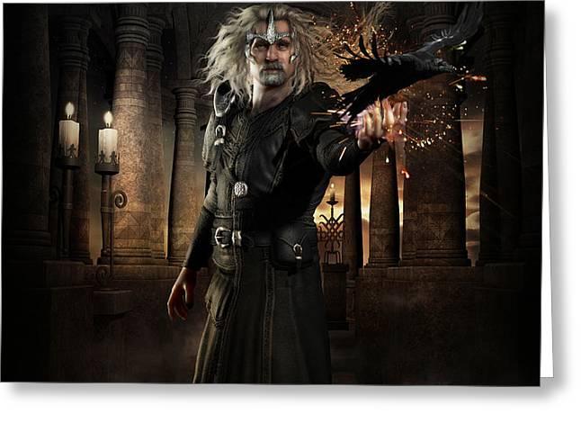 The Warlock Greeting Card by Shanina Conway