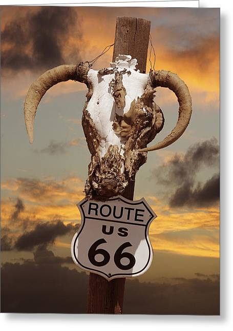66 Greeting Cards - The Warmth of Route 66 Greeting Card by Mike McGlothlen