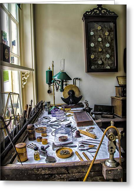 Harpers Ferry Digital Greeting Cards - The Watch Repair Shop Greeting Card by Bill Cannon