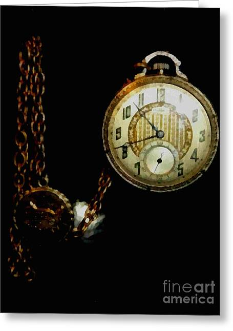 Old Grandfather Time Greeting Cards - The Watch Greeting Card by Scott B Bennett
