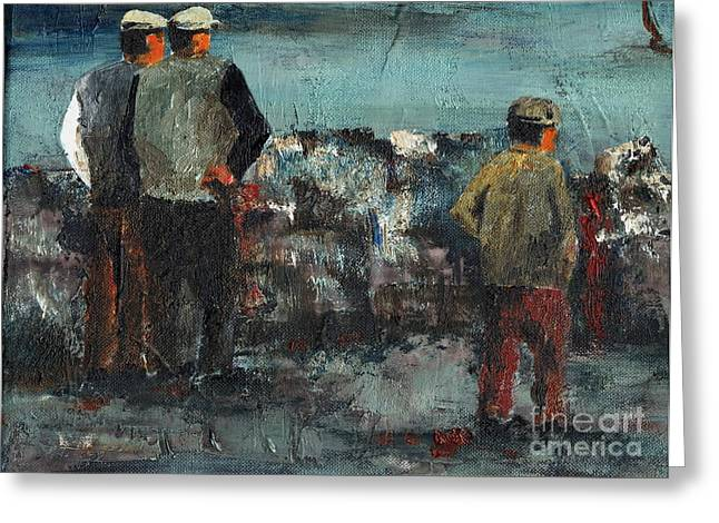 Tour Ireland Greeting Cards - The Watchers  Greeting Card by Val Byrne