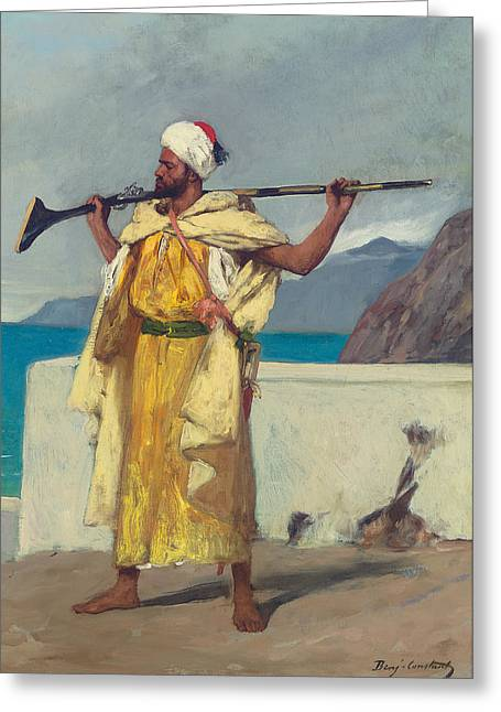 Watch Paintings Greeting Cards - The Watchful Guard Greeting Card by Jean Joseph Benjamin Constant