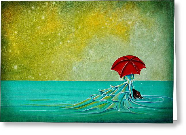 Umbrella Greeting Cards - The Watchful Seas Greeting Card by Cindy Thornton