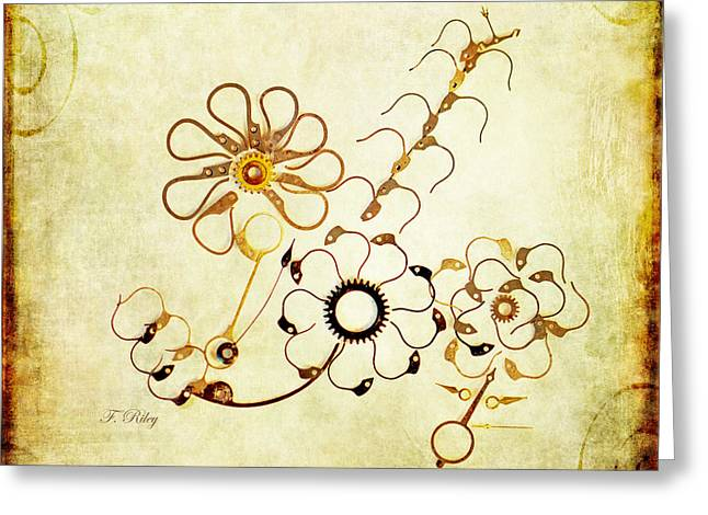 Component Digital Art Greeting Cards - The Watchmans Flower Greeting Card by Fran Riley
