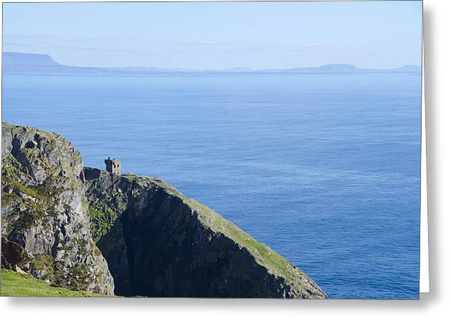 Watch Tower Greeting Cards - The Watchtower at Slieve League Greeting Card by Bill Cannon