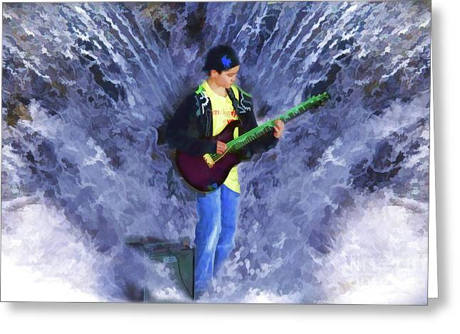 Music Lover Digital Greeting Cards - The Water Gig Greeting Card by Cathy  Beharriell