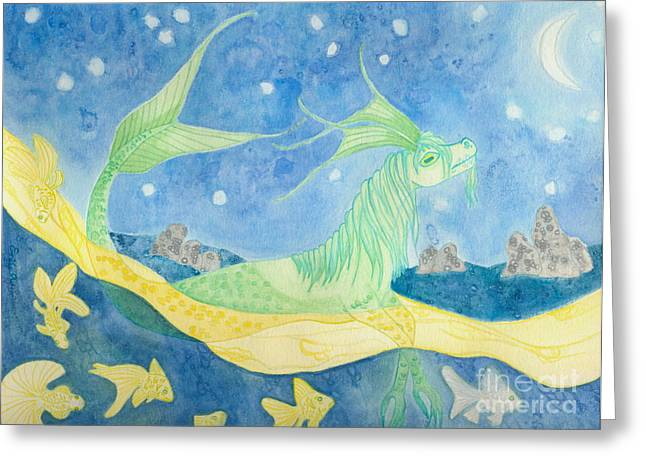 The Water Horse Greeting Card by Emily Alexander