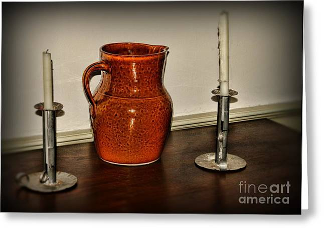 Water Jug Greeting Cards - The Water Pitcher Greeting Card by Paul Ward
