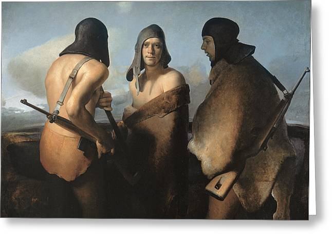 Family Love Greeting Cards - The Water Protectors Greeting Card by Odd Nerdrum