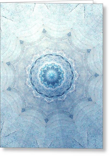 Light Blue Chakra Greeting Cards - The Water Secret Greeting Card by Dagmar Ceki