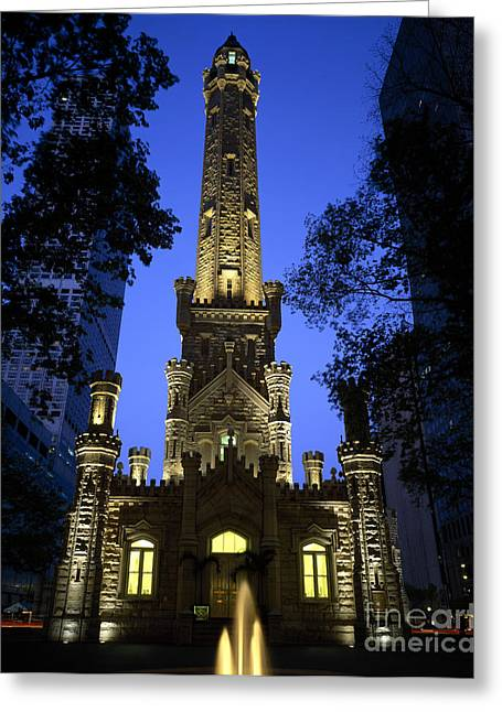 Neogothic Greeting Cards - The Water Tower Greeting Card by Rafael Macia