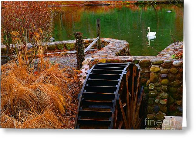 Grist Mill Greeting Cards - The Water Wheel Greeting Card by Paul Ward