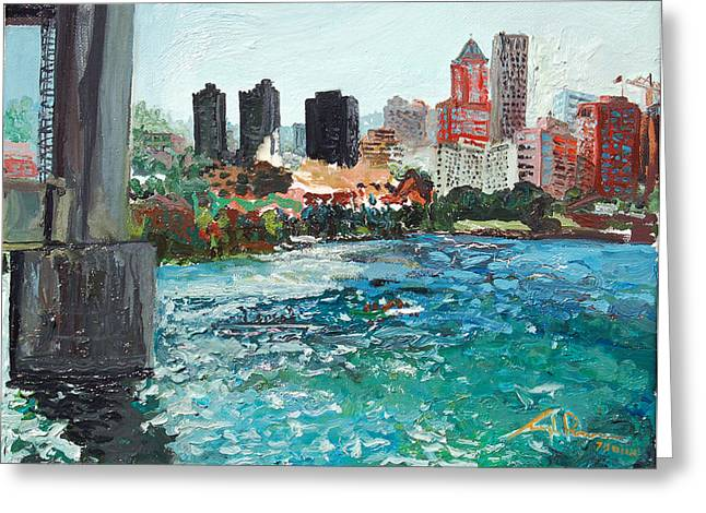 Joseph Demaree Greeting Cards - The Waterfront Greeting Card by Joseph Demaree