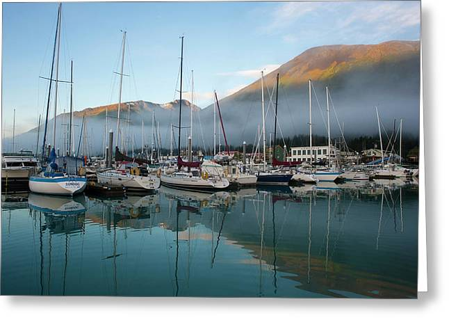 The Waterfront Of Seward, Alaska Greeting Card by Dan Bailey