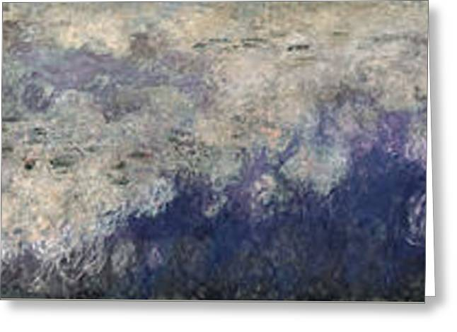 The Waterlilies  The Clouds Greeting Card by Claude Monet