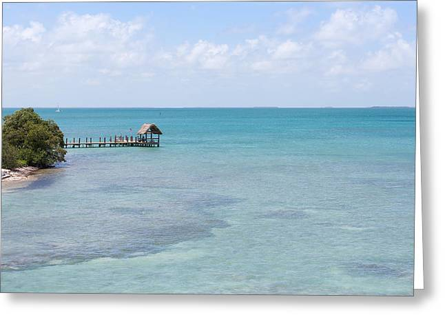 Paradise Pier Attraction Greeting Cards - The Waters of Pigeon Key Greeting Card by John Bailey