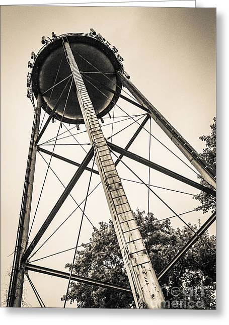 Water Tower Greeting Cards - The Water Tower Greeting Card by Edward Fielding
