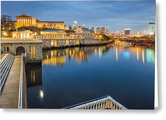 Locations Digital Art Greeting Cards - The Waterworks Greeting Card by Eduard Moldoveanu