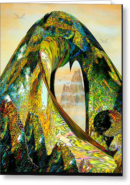 The Wave And The Mountains Greeting Card by Michele Avanti