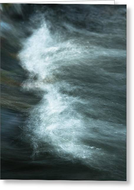 Rill Greeting Cards - The wave Greeting Card by Andy-Kim Moeller