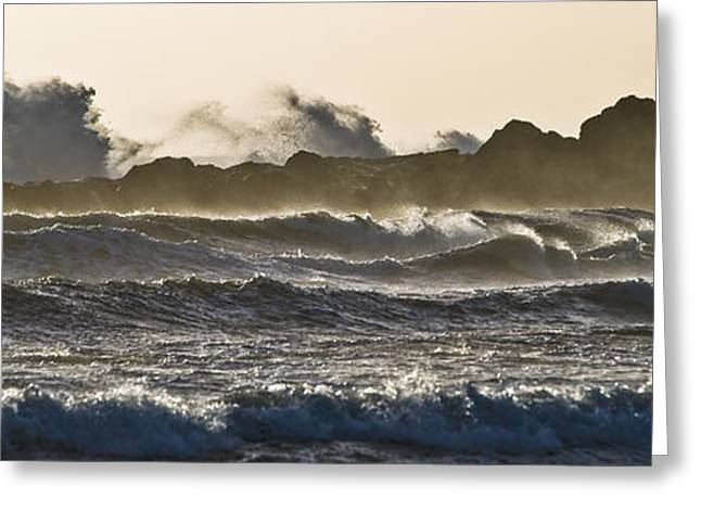 County Cork Greeting Cards - The Wave Greeting Card by Kai Bergmann