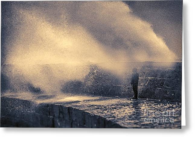 Surfing Art Greeting Cards - The Wave Will Come Greeting Card by Curtis Radclyffe