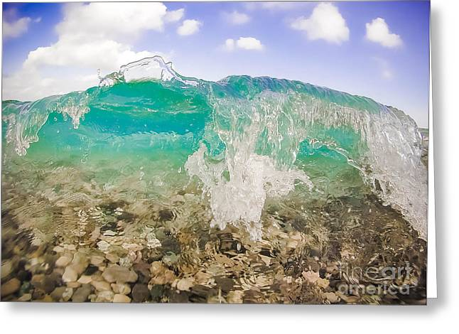 Go Pro Greeting Cards - The Wave Greeting Card by William Martin-Genier