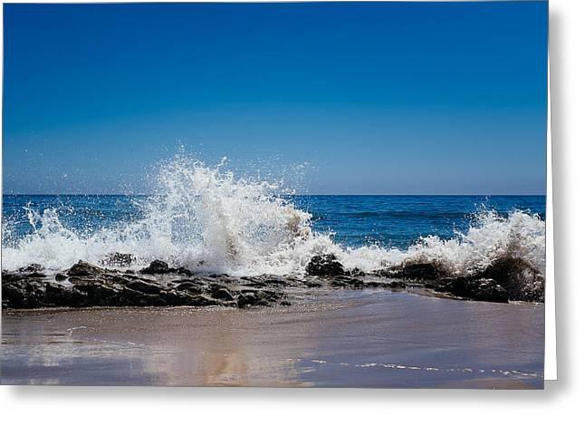 Tony Boyajian Greeting Cards - The Waves of Carpinteria Greeting Card by Tony Boyajian