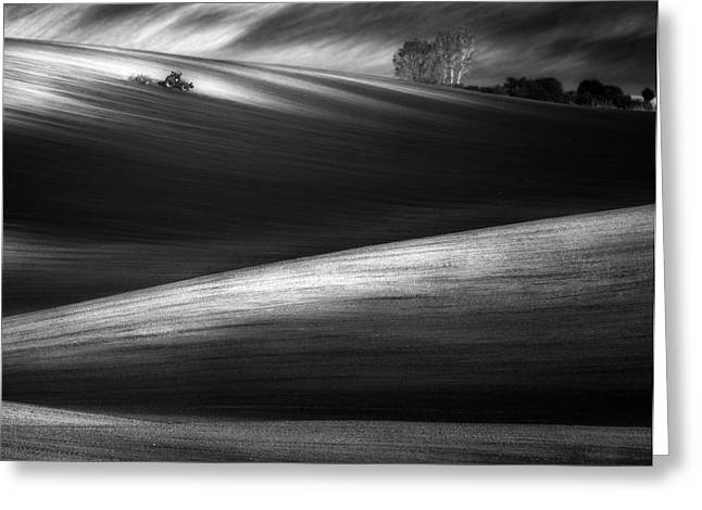 The waves of light - I Greeting Card by Tomasz Grzyb