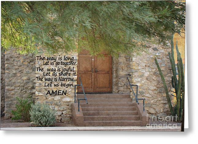 Is The Way Greeting Cards - The Way Is Greeting Card by Beverly Guilliams