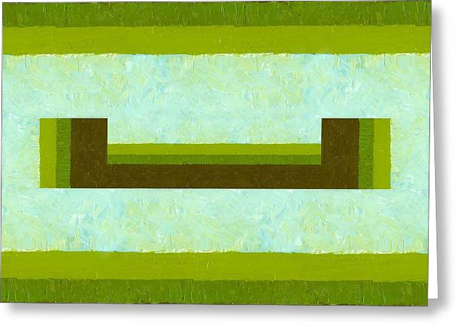 Geometric Image Greeting Cards - The Way is Open Greeting Card by Michelle Calkins