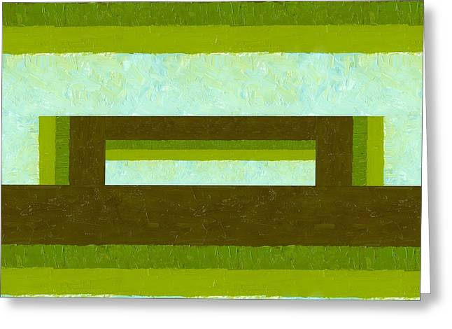 Geometric Image Greeting Cards - The Way is Shut Greeting Card by Michelle Calkins