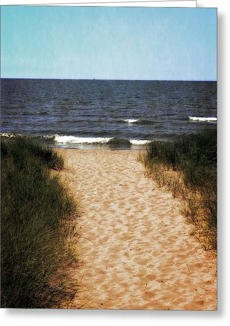 Seaside Digital Greeting Cards - The Way Greeting Card by Michelle Calkins