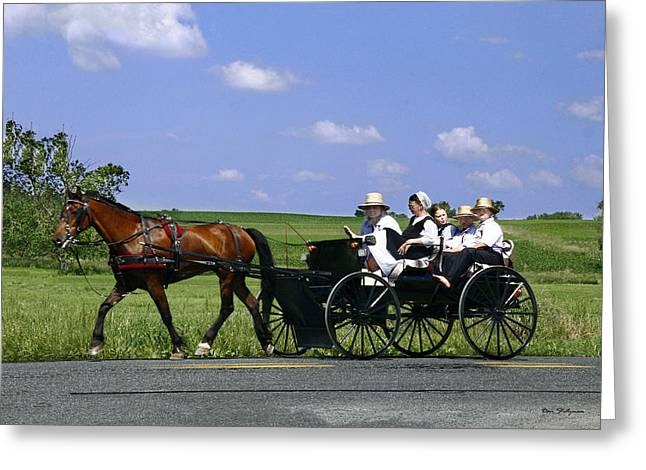 Amish Photographs Greeting Cards - The Way of the Amish Greeting Card by Dan Stutzman