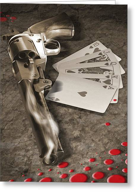 Cheat Greeting Cards - The Way of the Gun 2 Greeting Card by Mike McGlothlen