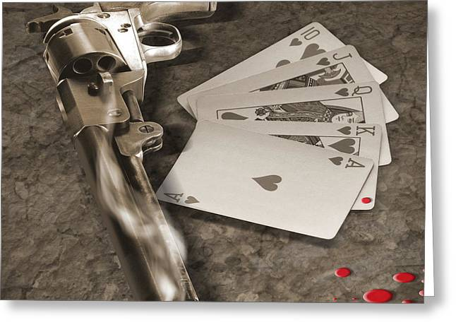 Hands Digital Art Greeting Cards - The Way of the Gun Part 1 Greeting Card by Mike McGlothlen