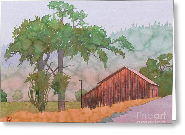 Napa Paintings Greeting Cards - The Way To Napa Greeting Card by Robert Hooper