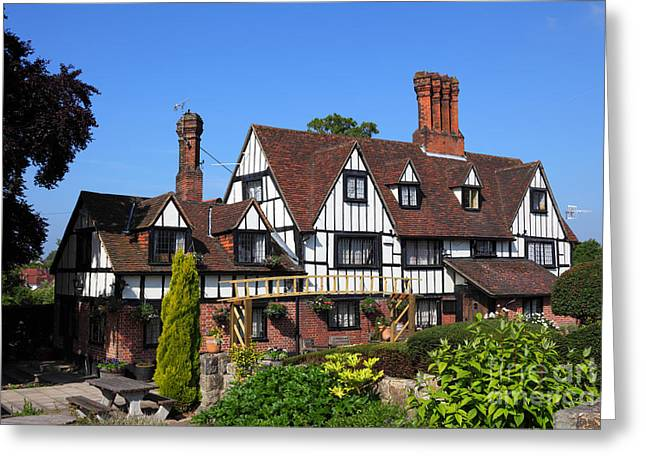 Old Inns Greeting Cards - The Weavers Greeting Card by James Brunker