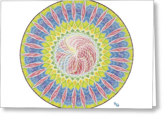The Web Of Life Greeting Card by Vanda Omejc