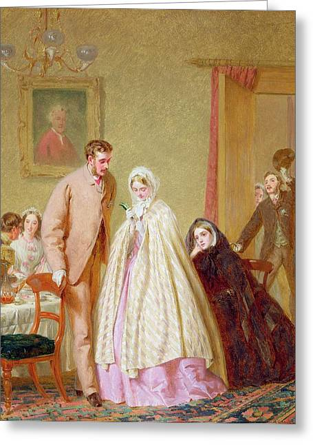 Reception Greeting Cards - The Wedding Breakfast, 1862 Greeting Card by George Elgar Hicks