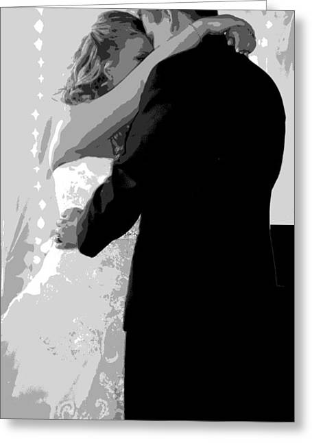 First Love Greeting Cards - The Wedding Dance Greeting Card by Deena Stoddard