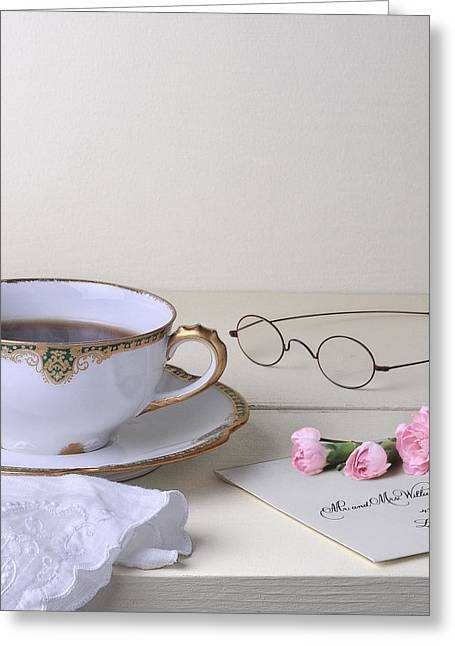 Cup Pyrography Greeting Cards - The Wedding Invitation Greeting Card by Krasimir Tolev