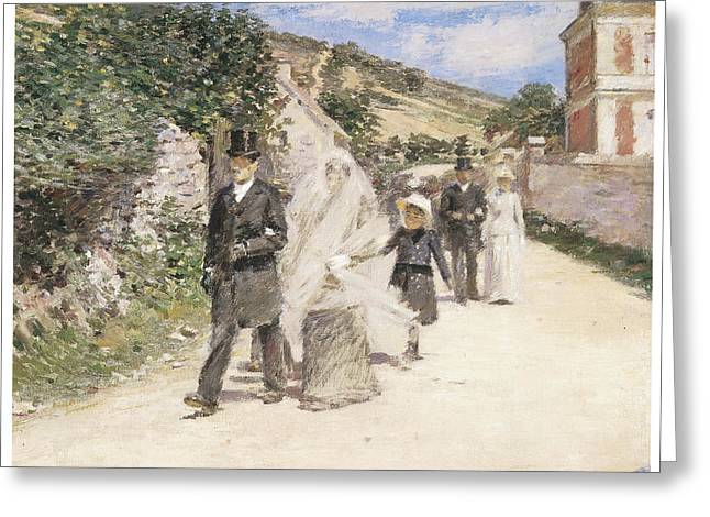 The Wedding March Greeting Card by Theodore Robinson