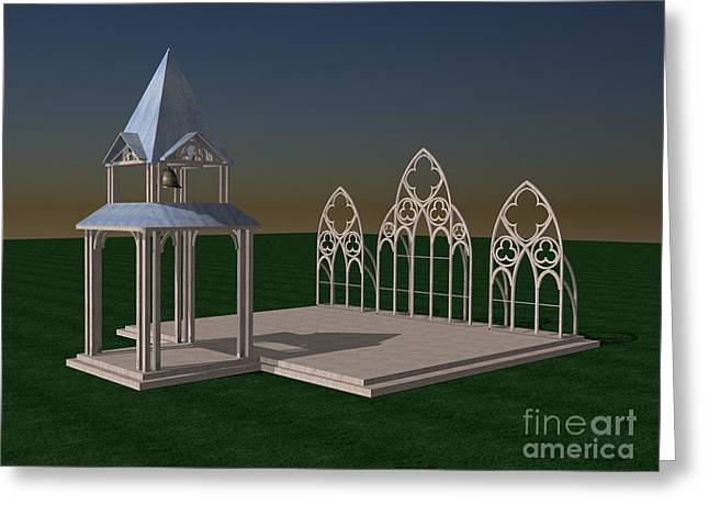 Wedding Chapel Greeting Cards - The Wedding Place WIP Greeting Card by Peter Piatt