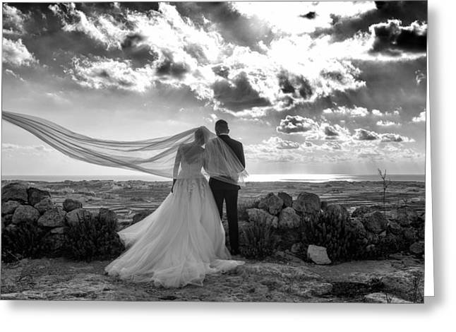 People Greeting Cards - The Wedding Veil  Greeting Card by Focus  Fotos