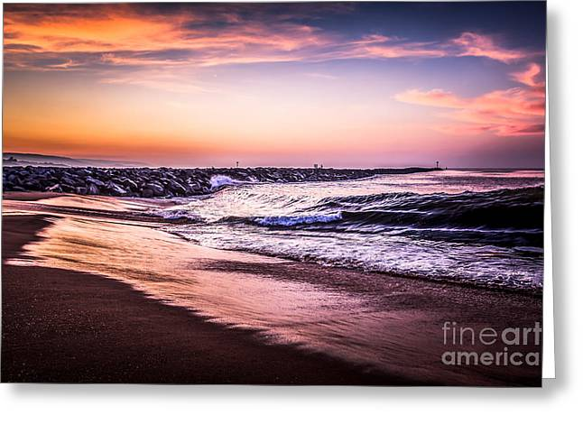 The Wedge Newport Beach California Picture Greeting Card by Paul Velgos