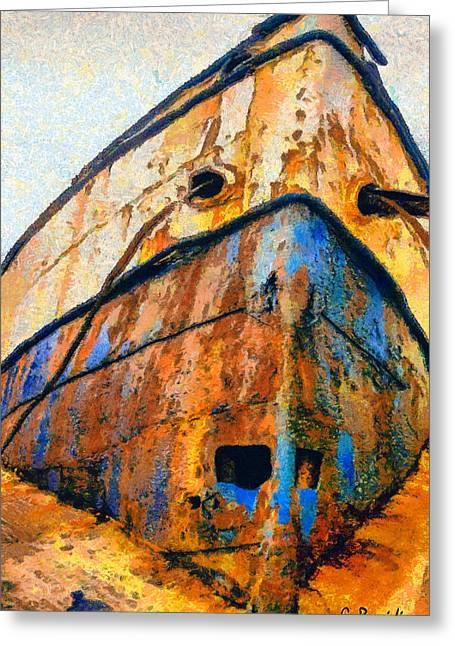 The Weeping Boat Greeting Card by George Rossidis