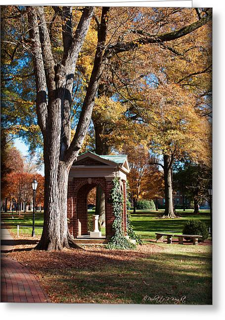 Paulette Wright Digital Art Greeting Cards - The Well - Davidson College Greeting Card by Paulette B Wright