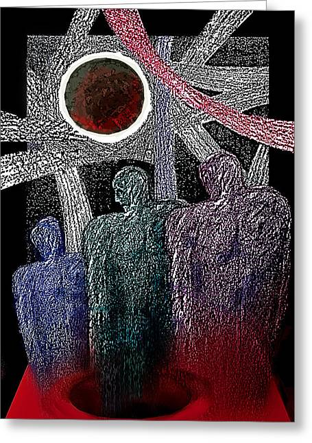 Slaves Mixed Media Greeting Cards - The Well of Despair Greeting Card by Hartmut Jager