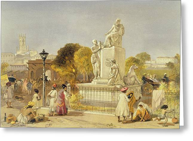 Bengal Drawings Greeting Cards - The Wellesley Monument, Bombay, 1863 Greeting Card by William